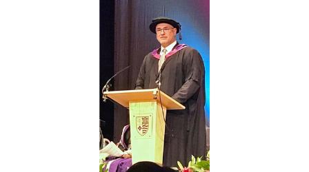 ECU President inspires graduating AECC UC students
